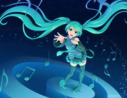 Hatsune Miku by paintpixel