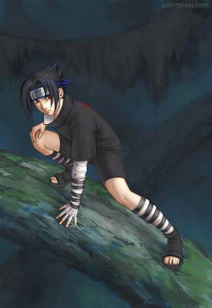Uchiha Sasuke by paintpixel