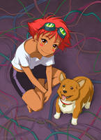 Ed and Ein by paintpixel