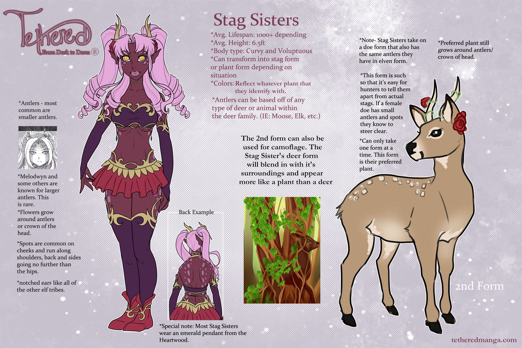 Stag Sisters Info by TetheredManga