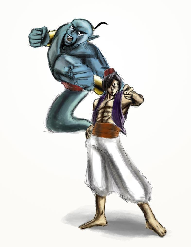 Jojo Fan Stands : Genie stands behind aladdin by kuroi kenshi on deviantart