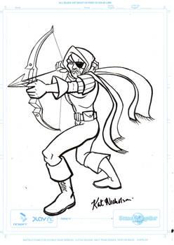 Crimson Archer by Kat