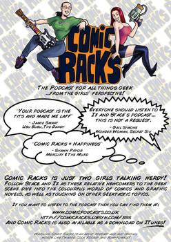 Comic Rack - podcast flyer