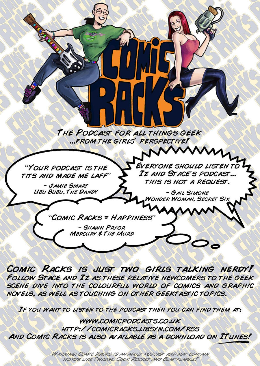 Comic Rack - podcast flyer by crimsonarcher on DeviantArt