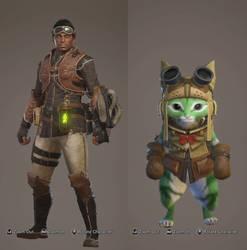 My Monster Hunter Avatar and Partner