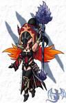 D3 Chibi Wizard Shiana by aoi-ryu