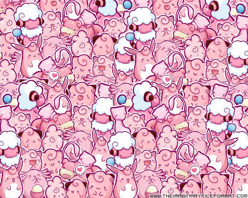 Pink Pokemon Wallpaper By PeterPan Syndrome