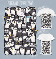 Penguins T-shirt by PeterPan-Syndrome