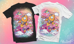 Animals in Space T-shirt by PeterPan-Syndrome