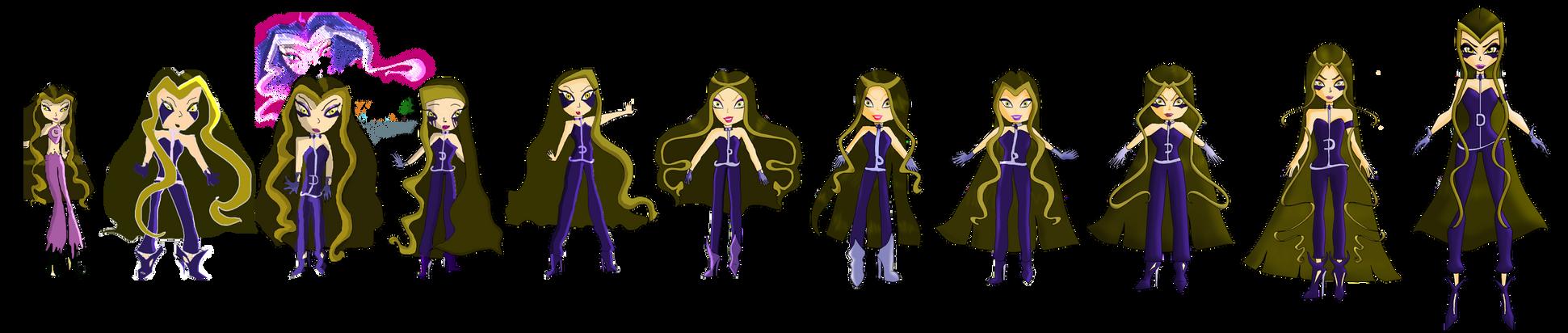 Evolution of Darcy, Queen of Darkness !