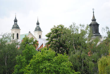 Treetops and Churches by Rowena-Silver