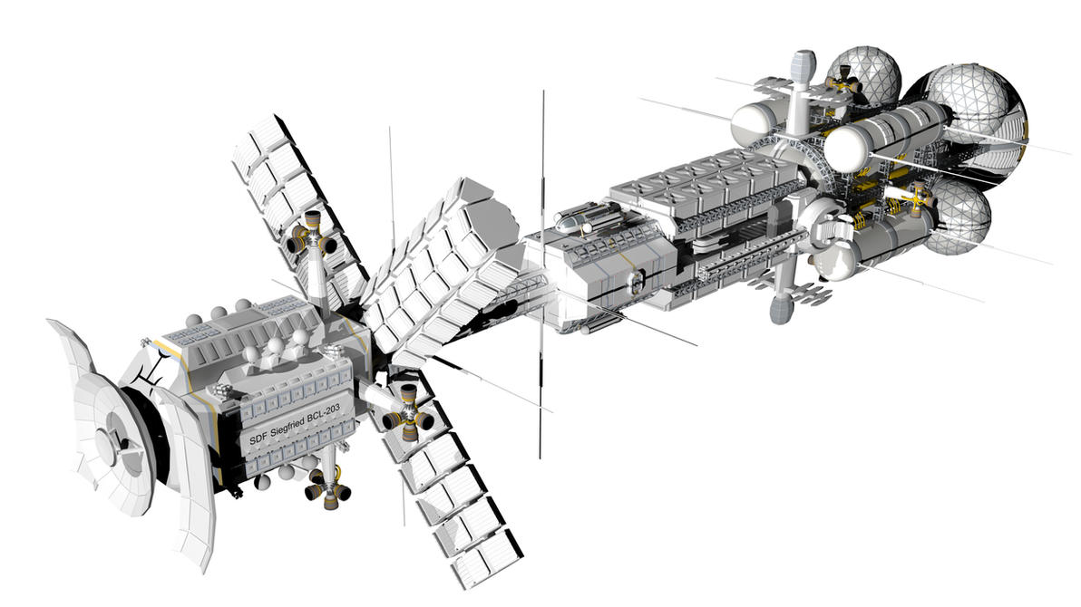 Sort of realistic space battlecruiser 2 by Do-Mo