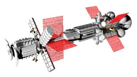 Sort of realistic space battlecruiser 7