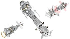 Sort of realistic space battlecruiser 8 - redone