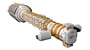 Sort of realistic space transport ship - Redone 4 by Do-Mo