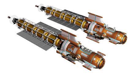 Orbital patrol ship - Martin 1 by Do-Mo