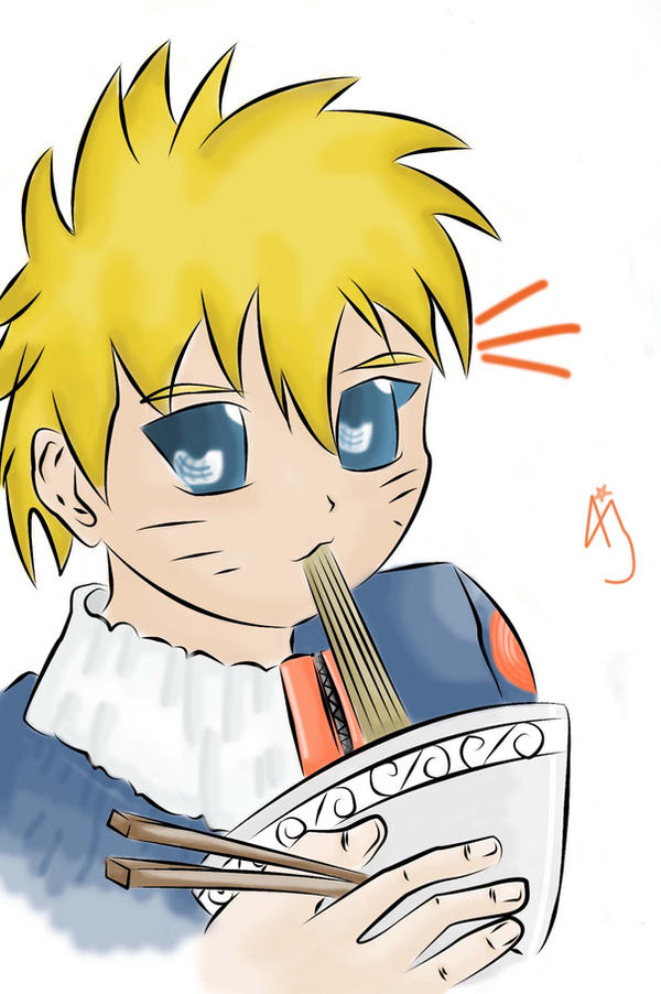 naruto eating ramen coloring pages - photo#5
