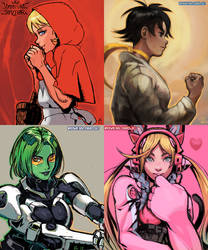 Assorted Fighting Game Gals