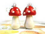 Polymer Clay Mushroom Earrings