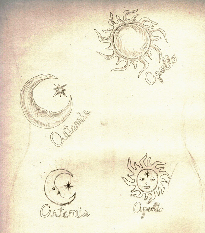 Artemis- Apollo Tattoos by Scribble-Chick on DeviantArt