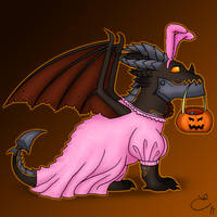 Cute Deathwing for Hallow's End by SaradoraArt