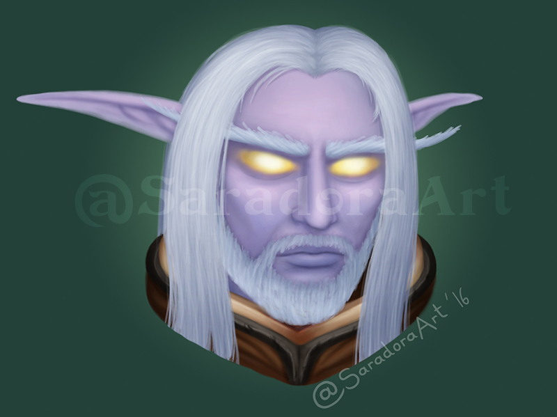 Seriously, I'm not saying my Night Elf Warrior is in love with Jarod  Shadowsong.