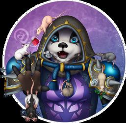 Commission - Pandaren monk with rats