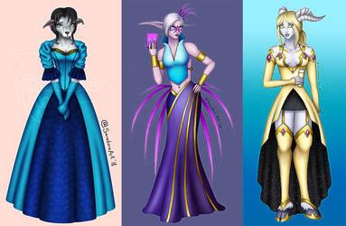 Warcraft Ball girls by SaradoraArt