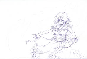 -Fragmentary White- Sketch by white-angel-ariah