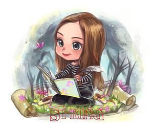 Chibi ~Spring~ by white-angel-ariah