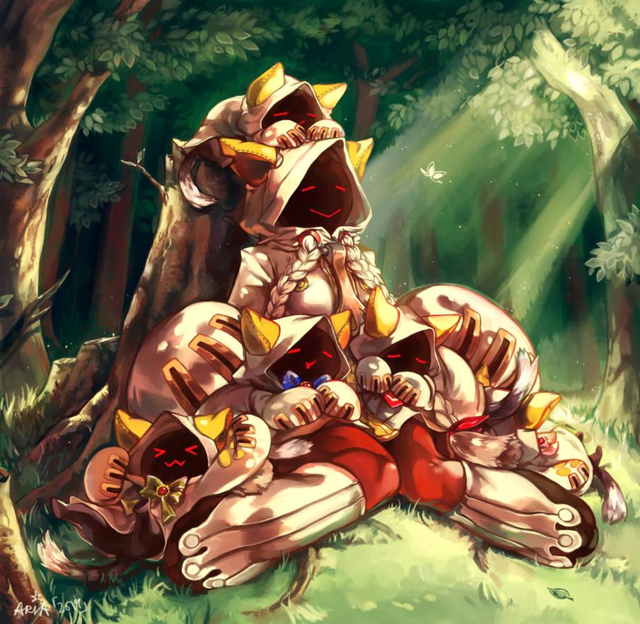 ~Sleeping Kitties~ by white-angel-ariah