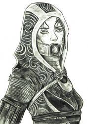 Tali'Zorah   Mass Effect by YunaAnn