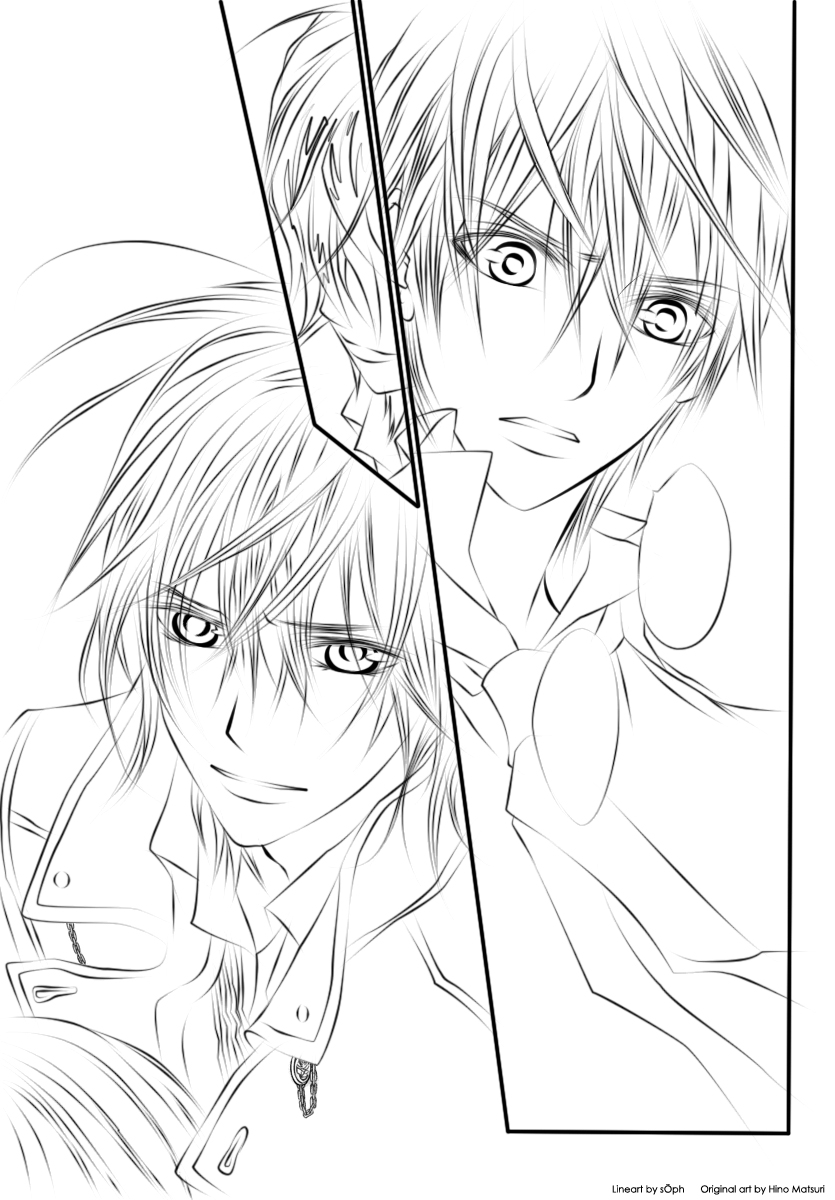 anime vampire knight coloring pages - photo#3