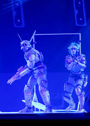 Appleseed Deunan and Briareos (ECG finale stage)