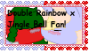 Double Rainbow x Jingle Bell fan stamp by MintyMagic74
