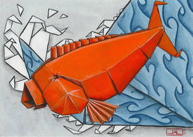 Koi Series, Origami by Leprikhan
