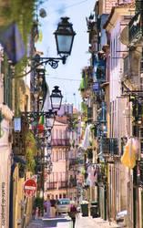 Chiado street view I by Arte-de-Junqueiro