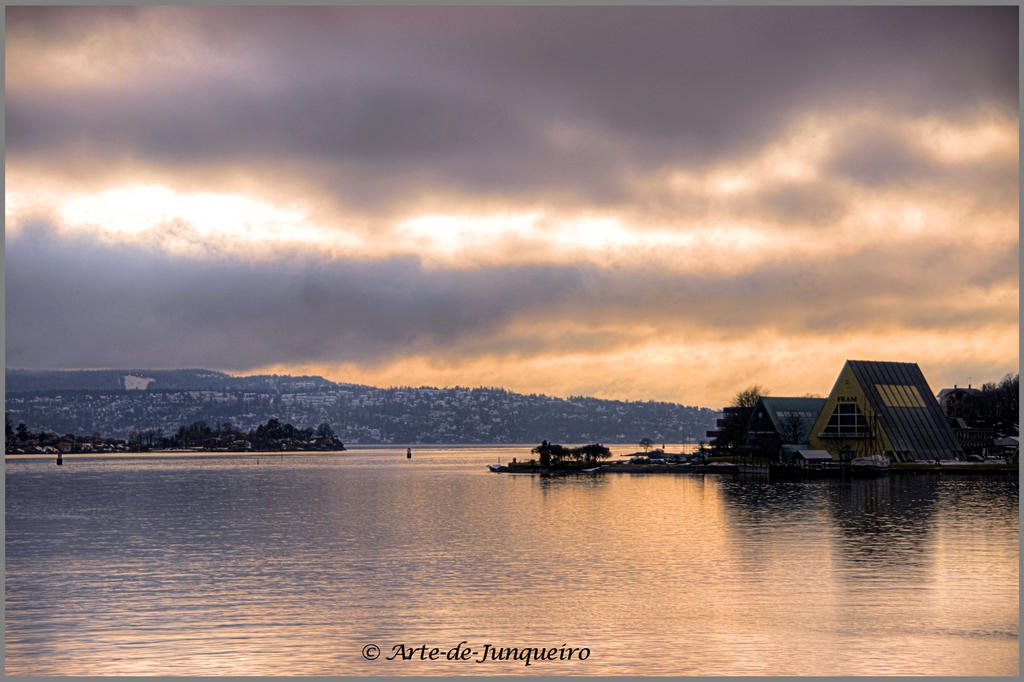 Winters Day on the Fjord by Arte-de-Junqueiro