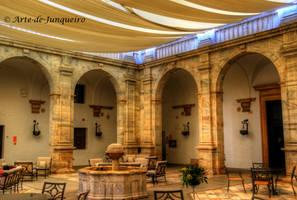 Inside a Castle Courtyard