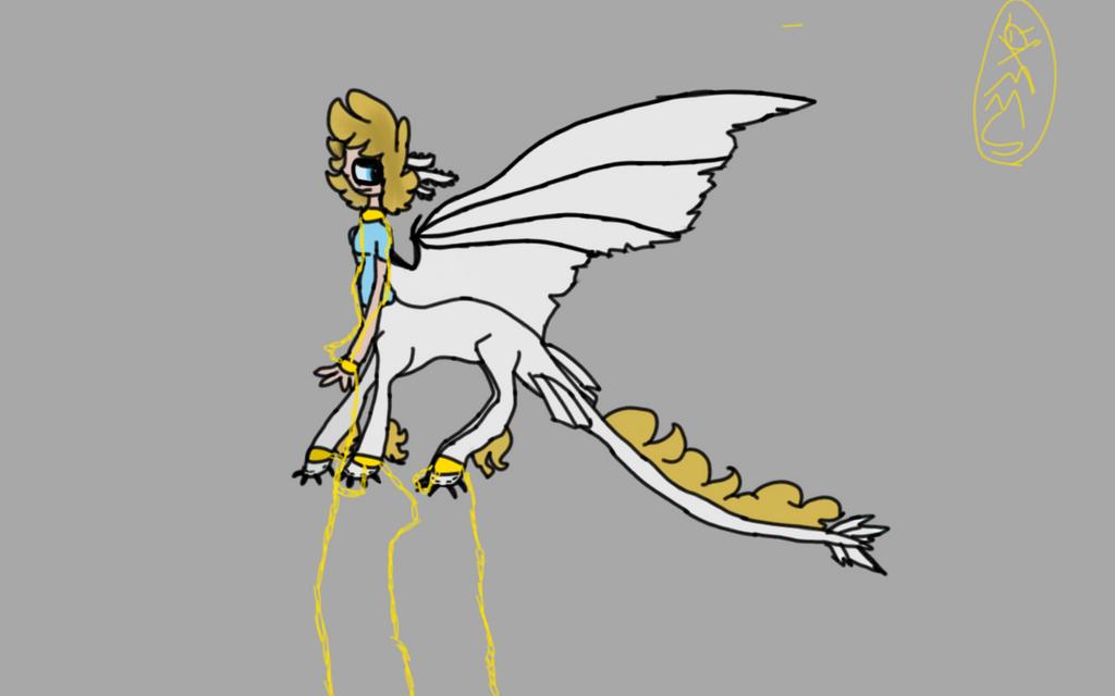 Smol half Dragon bitch by gravityfallsandstuff