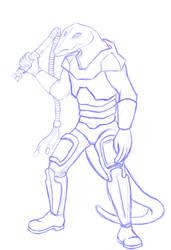 Spearhead slaver by Blackmanic