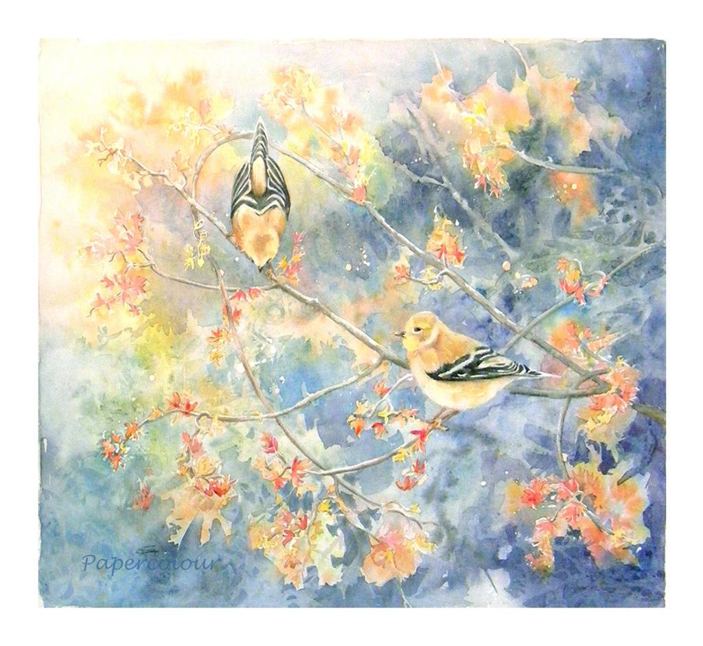 Oiseaux dans les branches by Papercolour
