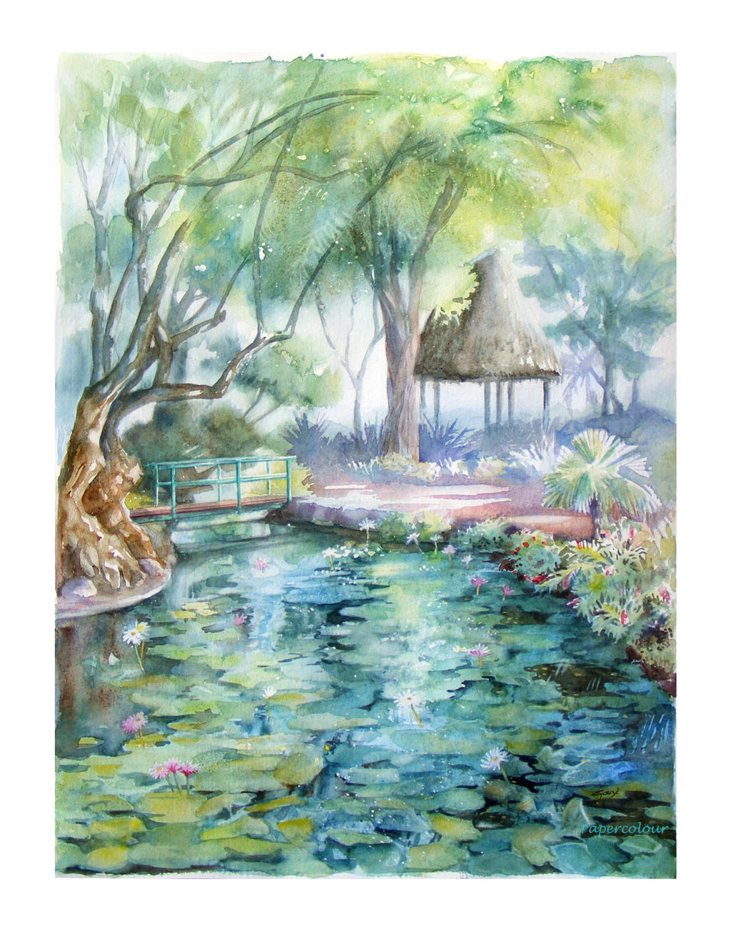 Nenuphars au parc Bougainville by Papercolour