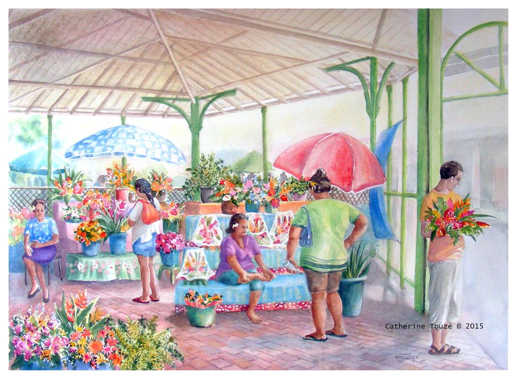 le marche aux fleurs by Papercolour