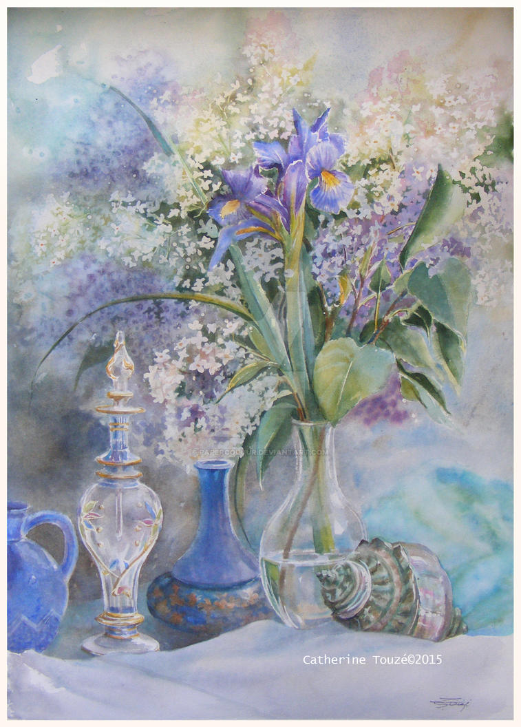 Iris en bleu by Papercolour