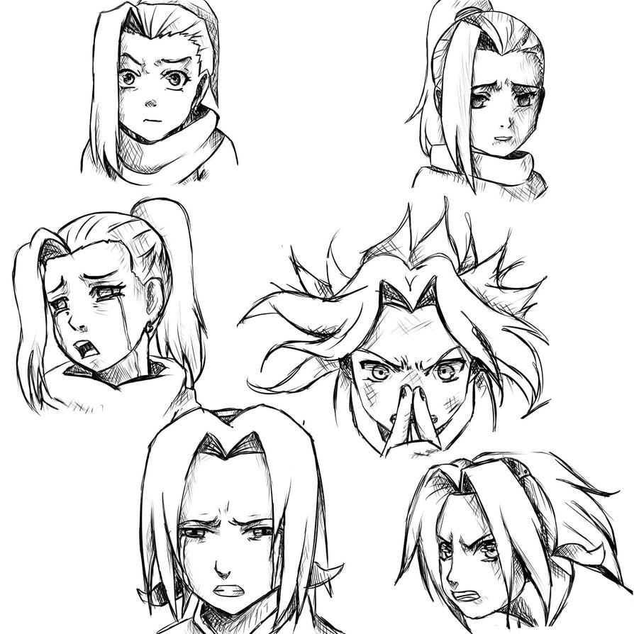how to draw sakura face