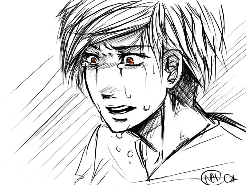 It is a picture of Breathtaking Drawing Of Someone Crying