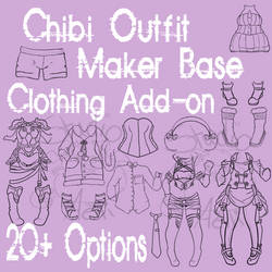 Waitress Chibi Outfit Maker Add-on! $4/400 pts
