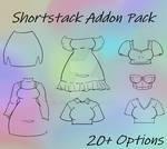 Waitress Shortstack Addon Clothing Pack by Aelliana