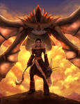 How To Train Your Dragon- Valka and Cloudjumper.